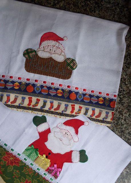 Panos de prato patchcolagem natal :) | Cida Artes | Flickr