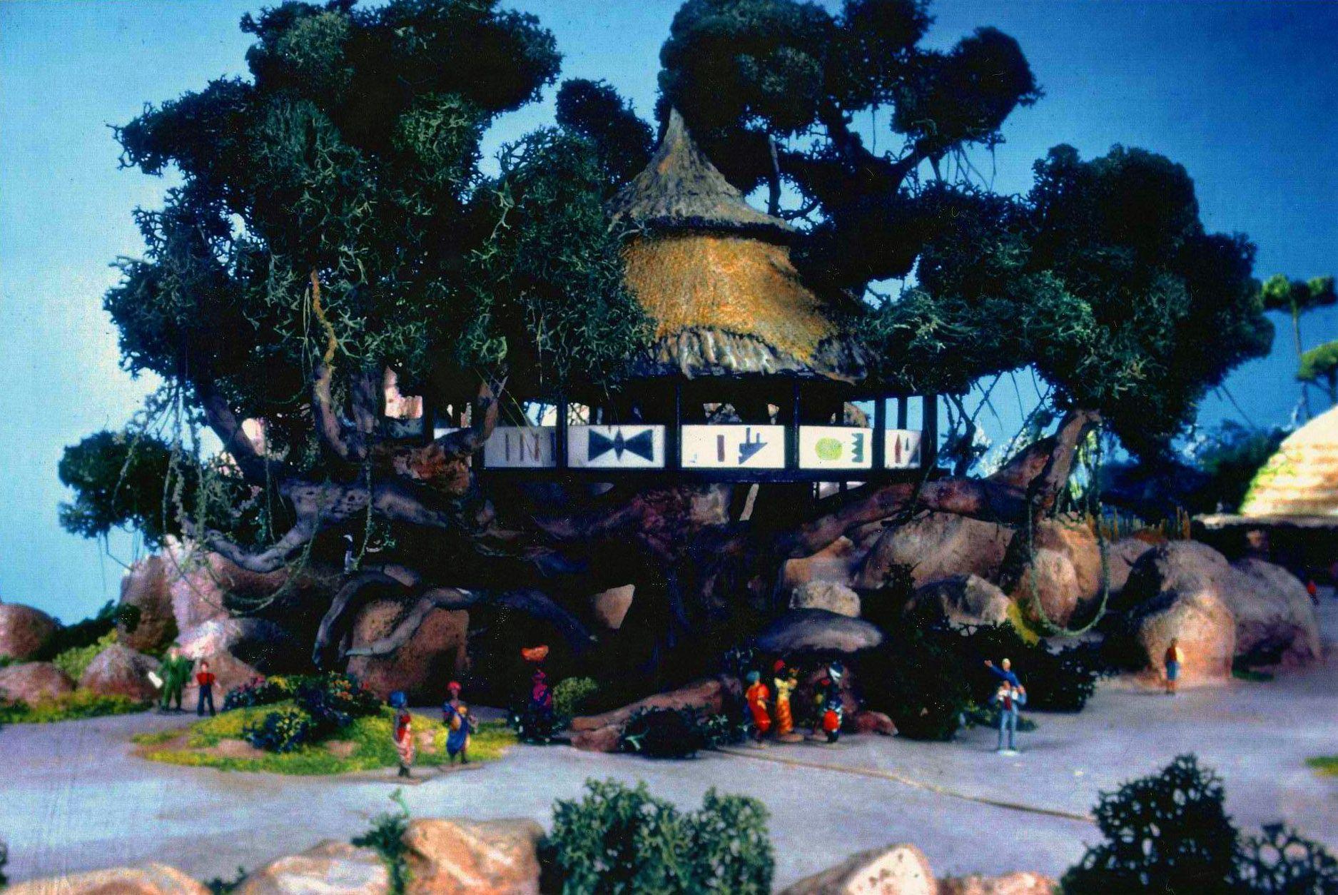 Treehouse Epcot Center' Equatorial Africa Pavilion Model Kenya Disney Concept