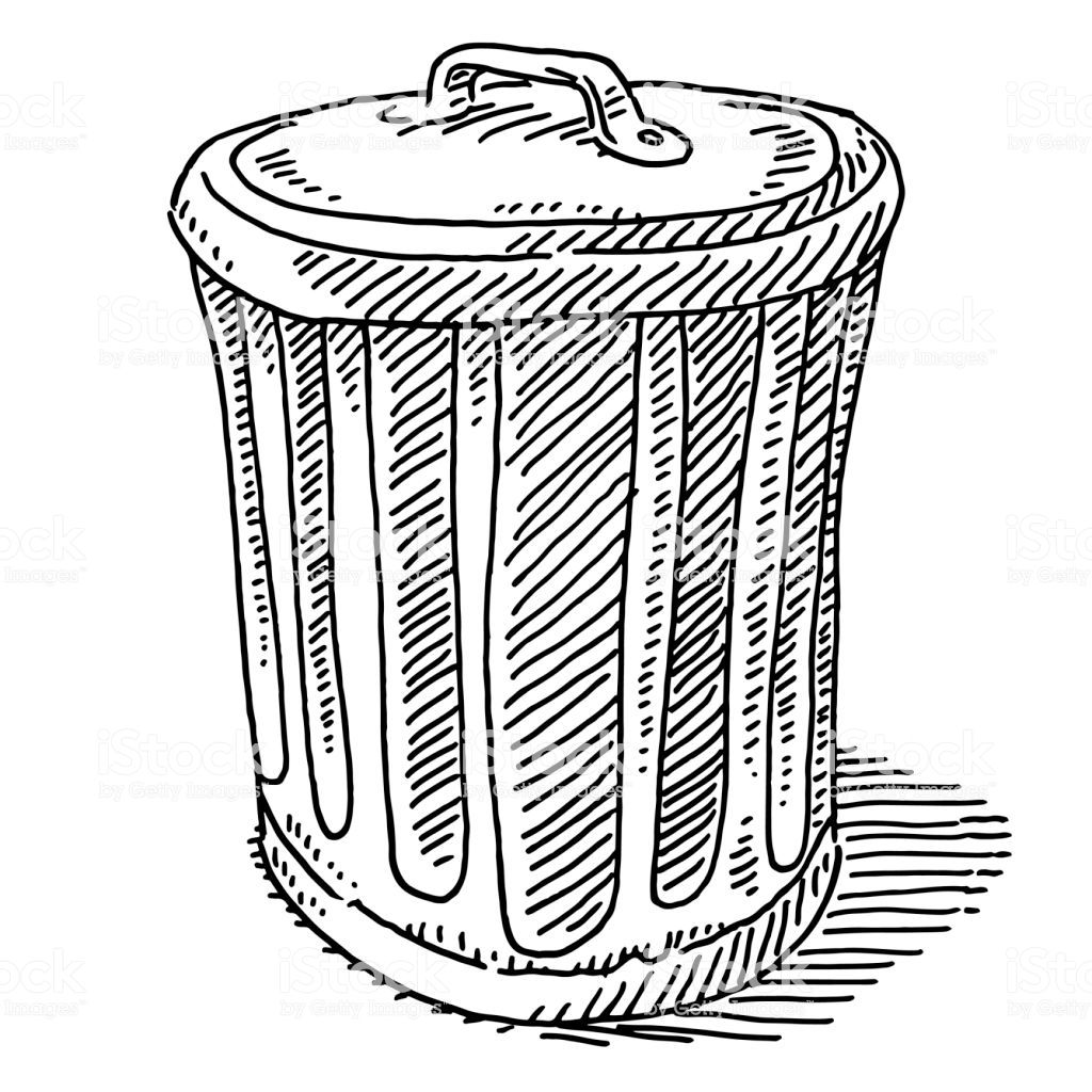 Waste Container Symbol Drawing Royalty Free Waste Container Symbol Drawing Stock Vector Art More Images Of Black And Drawings Waste Container Symbol Drawing