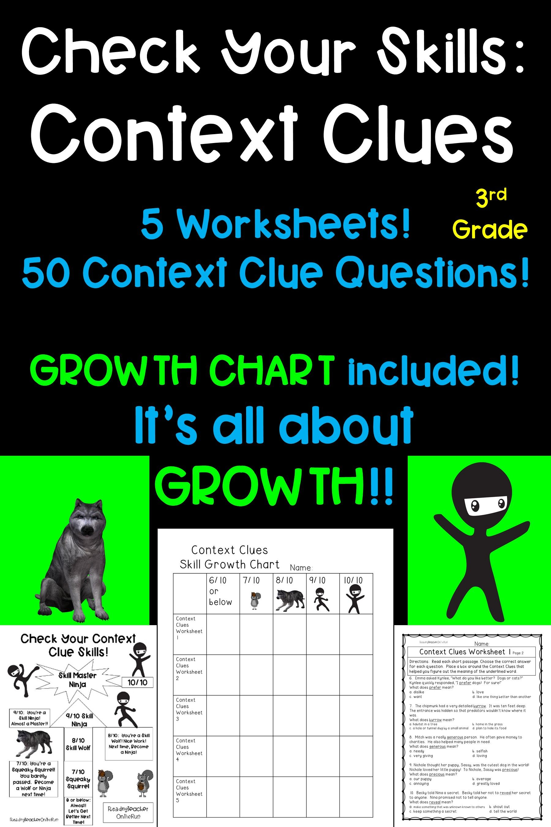 Context Clues Worksheets 7th Grade   Printable Worksheets and Activities  for Teachers [ 2700 x 1800 Pixel ]