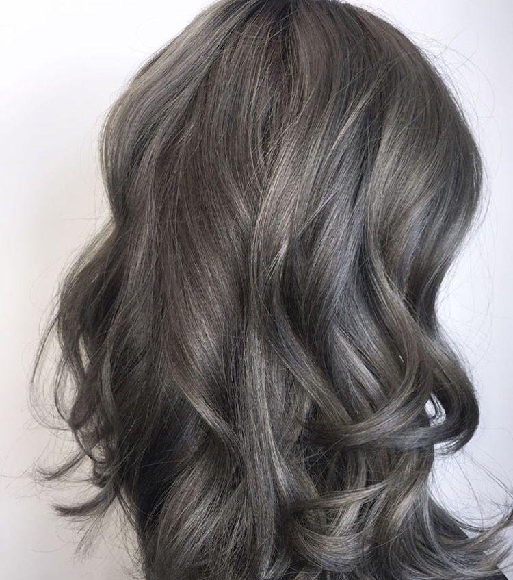 grey brown hair … | Pinteres…