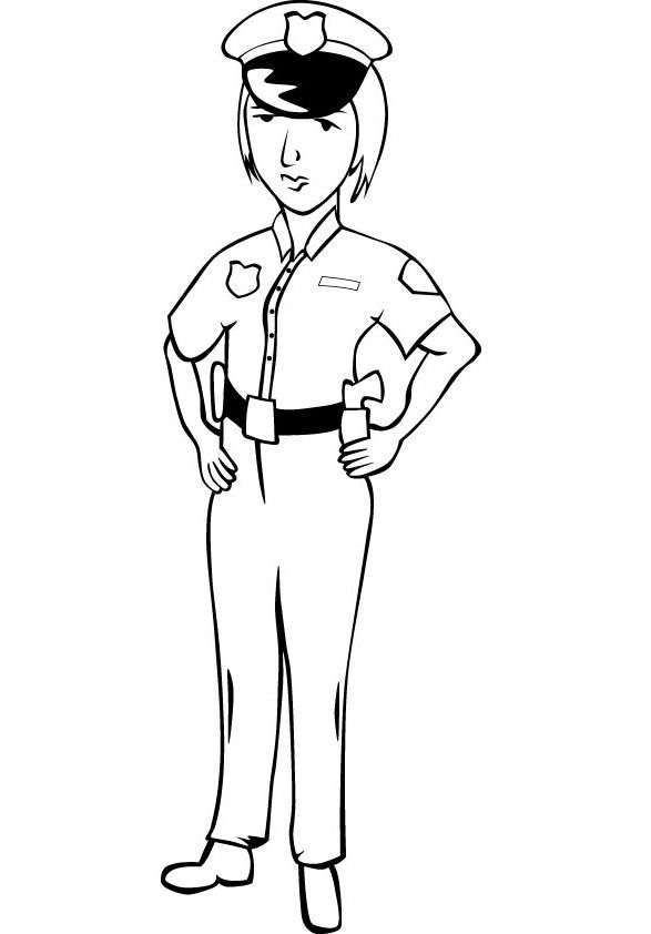 Female police officer coloring pages ~ Police Women Coloring Pictures | Female LEO | Coloring ...