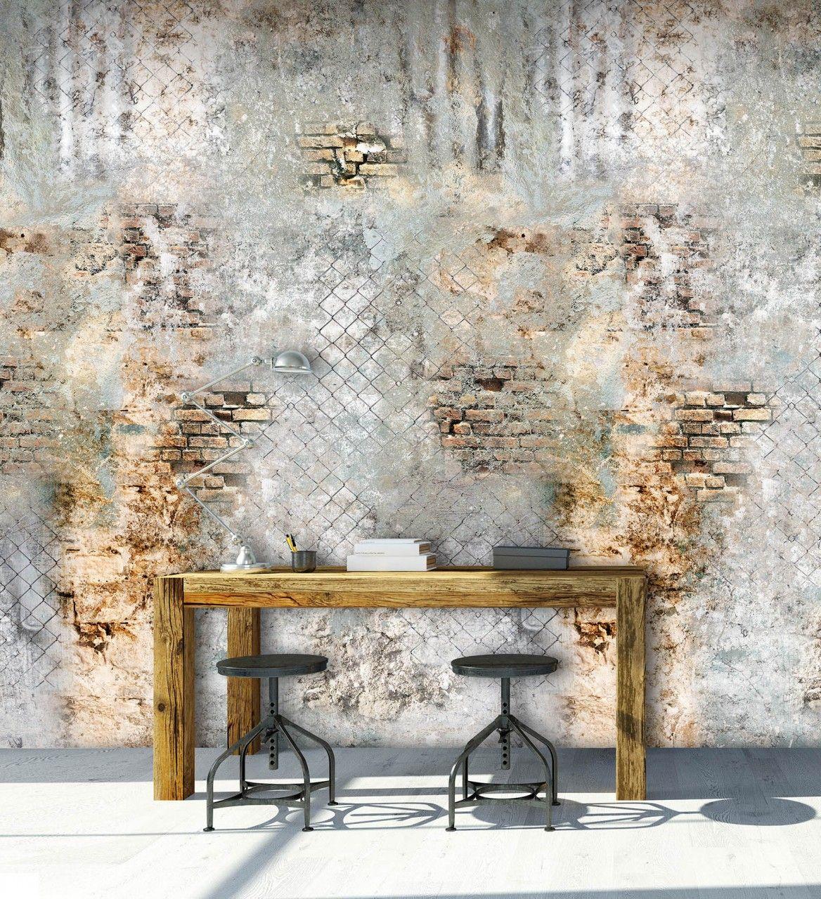 85 Wohnzimmer Tapeten Ideen: Vlies Fototapete Steinwand Antik Ornament Mediteran