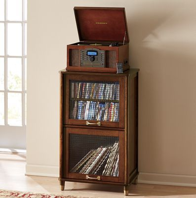 Record storage- love the wood/era | New Apartment Ideas | Pinterest ...
