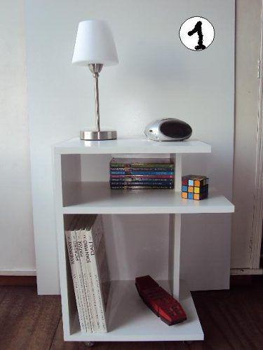 Mesa De Luz Mesita Minimalista C ruedas muebles Pinterest Mesa - mueble minimalista