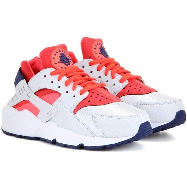 brand new d67dc 43da6 Nike Air Huarache Run Sneakers ( 130) ❤ liked on Polyvore featuring shoes,  sneakers, nike trainers, navy sneakers, nike sneakers, nike shoes and red  shoes