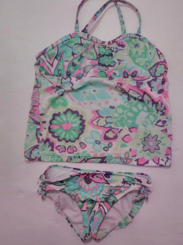 cbe33a57d61d8 Lands' End Kids Swimwear 2 piece little girls Size 4 Small #LandsEnd # Swimsuit