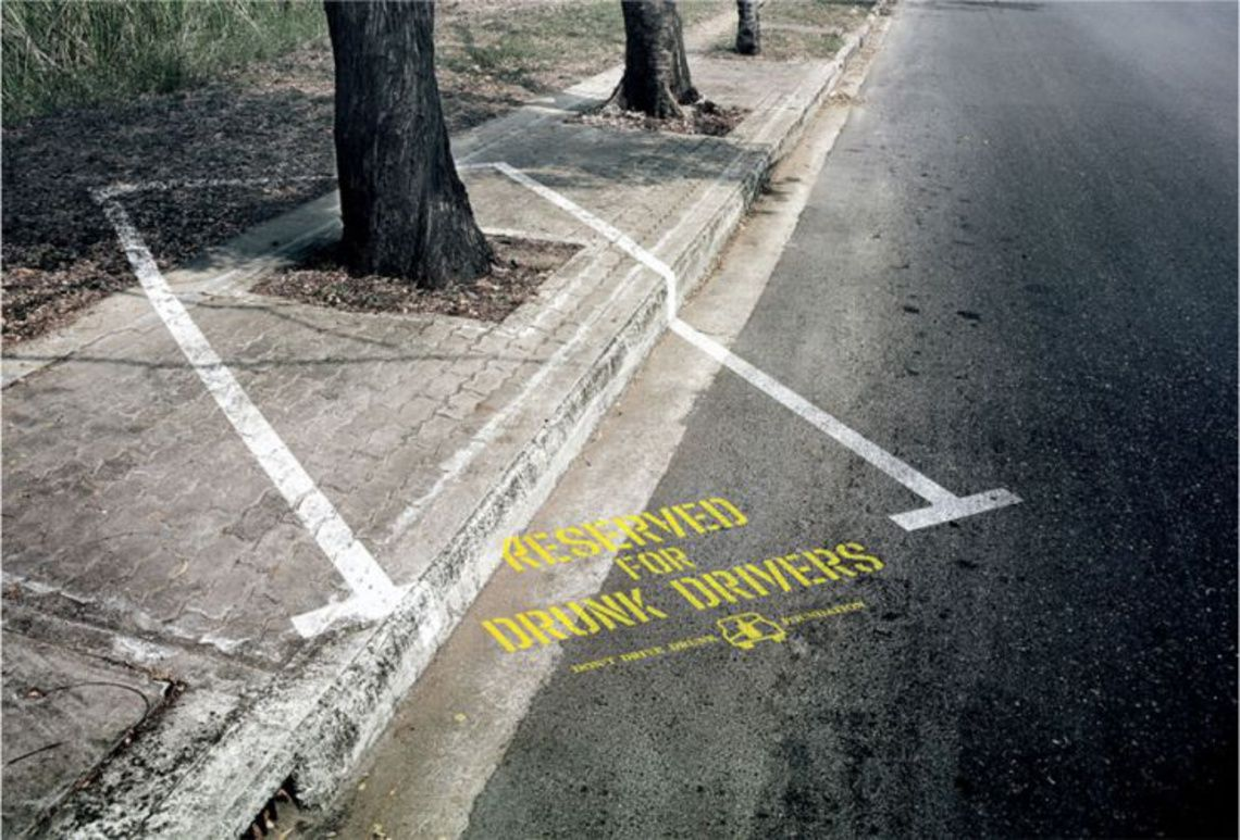 """Reserved for drunk drivers"""