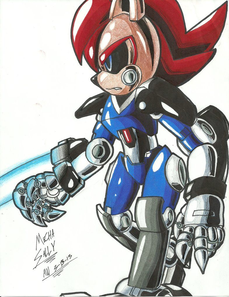SONIC OC*: Weaponized Mecha Sally by Armpit-Warrior on deviantART