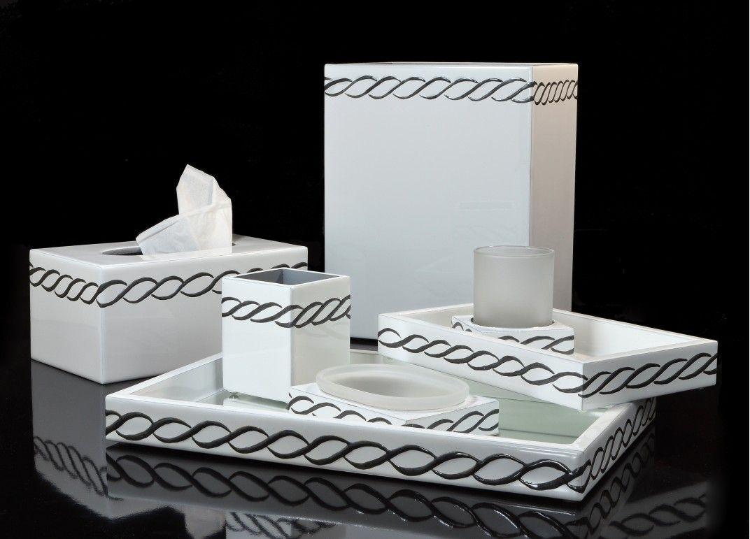 Mike & Ally Sutton Charcoal Enamel/White/Silver Trim Bath ...