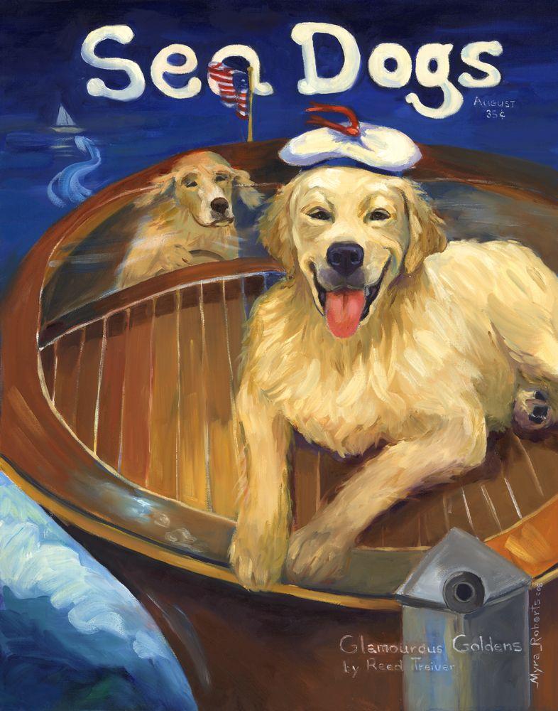 Sea Dogs Original Oil Painting Myraroberts Com Dog Paintings