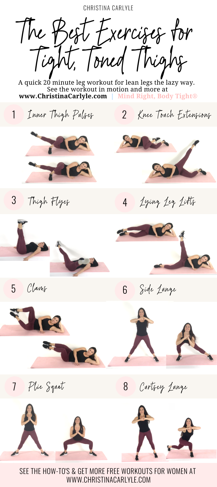 Thigh Exercises for toned, slim inner and outer thighs