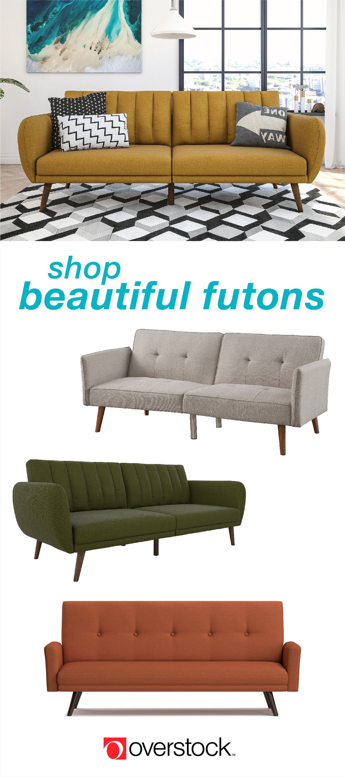 Carson Carrington Brandbu Mid Century Fold Down Futon Bedroom Furniture Stores Bedroom Furniture Furniture