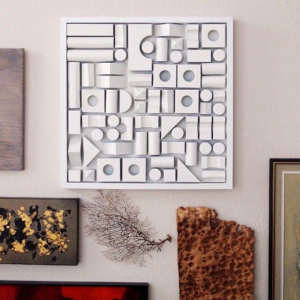 Diy Foam Building Block Artwork Unique Wall Art Diy Easy Diy