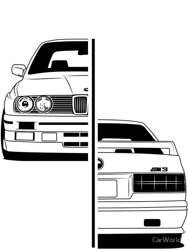 e30 print by carworld kendaraan sketsa dan seni