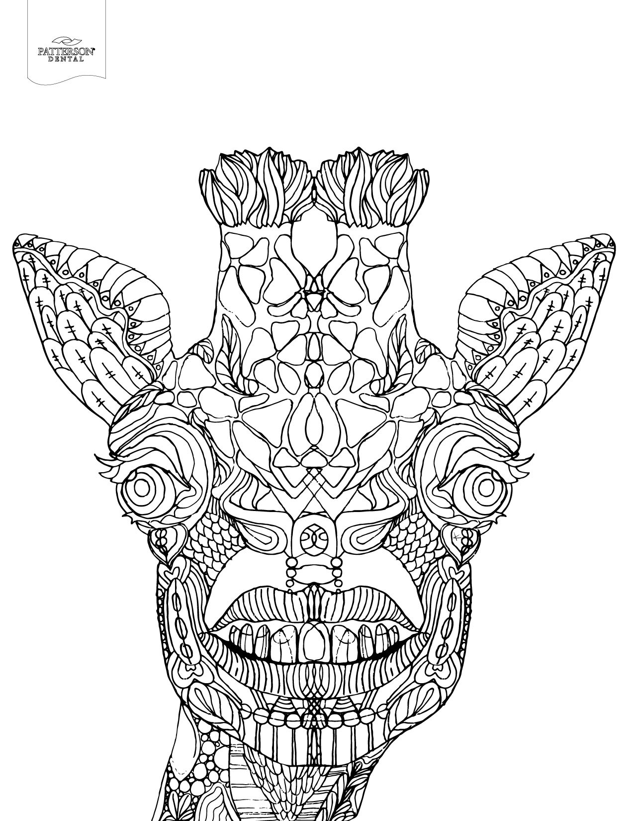 10 Toothy Adult Coloring Pages [Printable | Giraffe ...