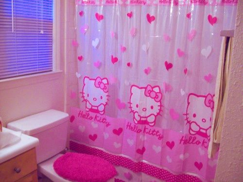 9 Shower Curtains I Never Want To See In Your Home Hello Kitty Rooms Hello Kitty House Hello Kitty Bathroom