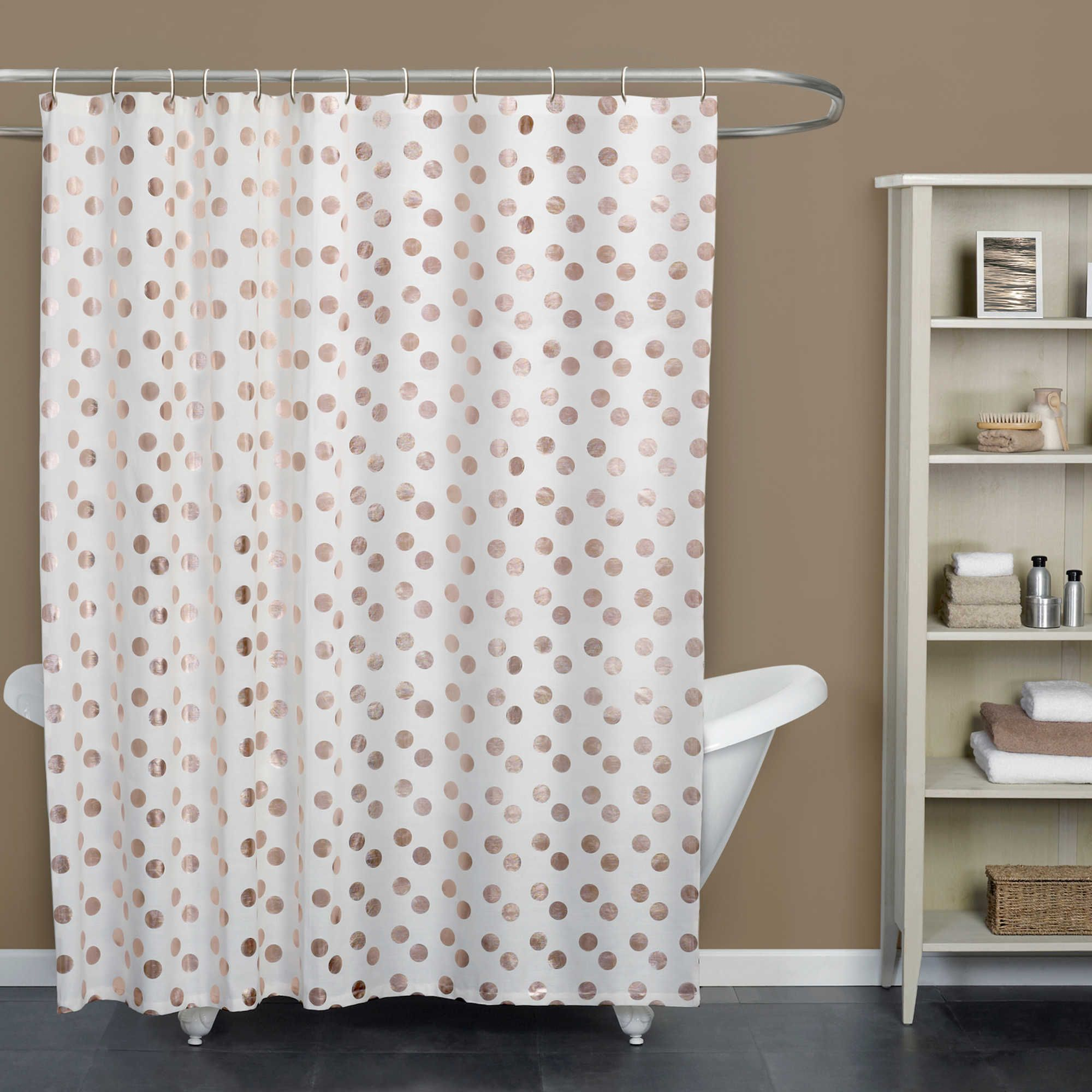Dazzle Rose Shower Curtain Collection Rose Gold Shower Curtain