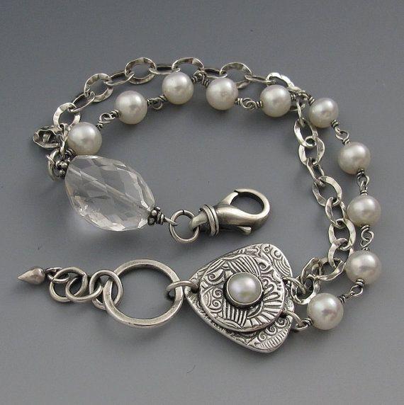 Crystal and Bali silver bracelet | Got Bling? | Pinterest | Silver ...