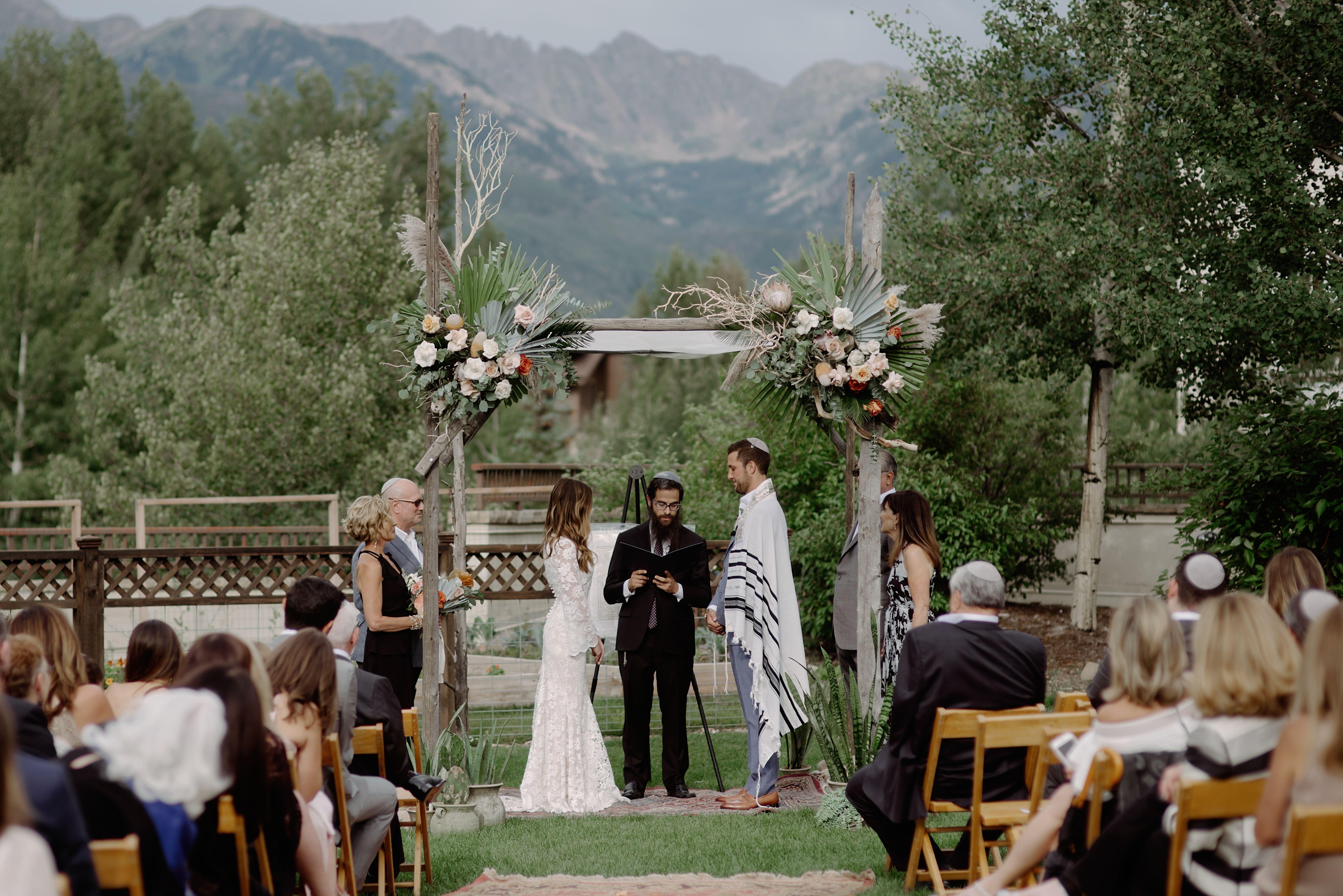 Mountain Ceremony Colorado Wedding Wedding Flowers Wedding