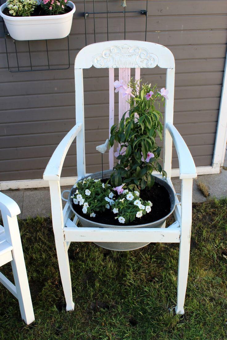 DIY Blumenstuhl in Shabby Chic einfach selber machen und ...