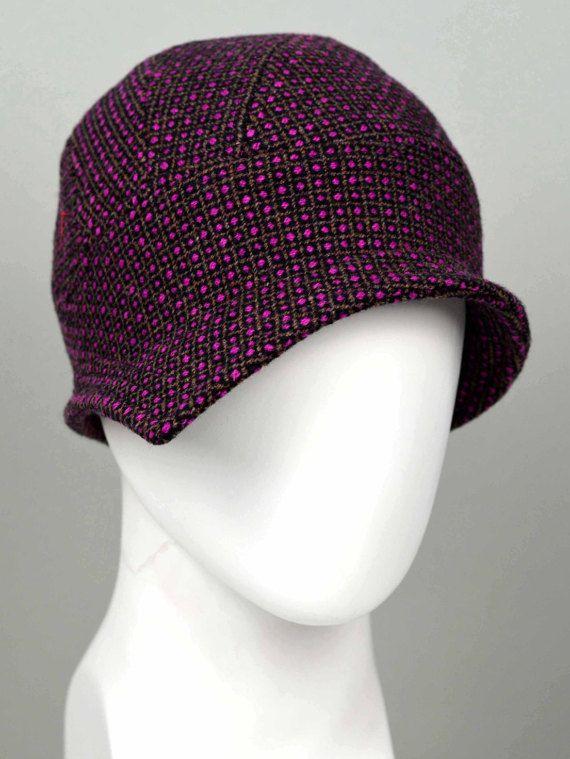 95c3a1fa85142 Sombrero cloche 20s sombrero de tela lana estilo estilo
