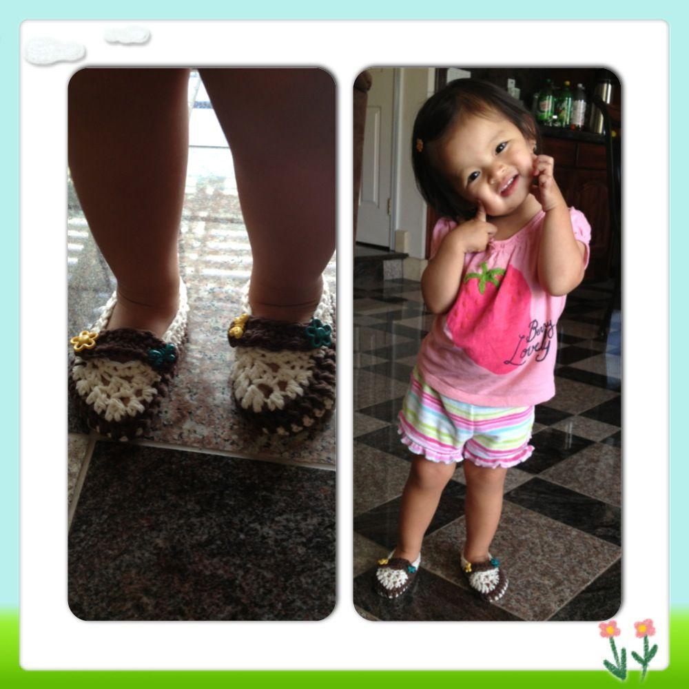 Crochet Toddler slippers/shoes