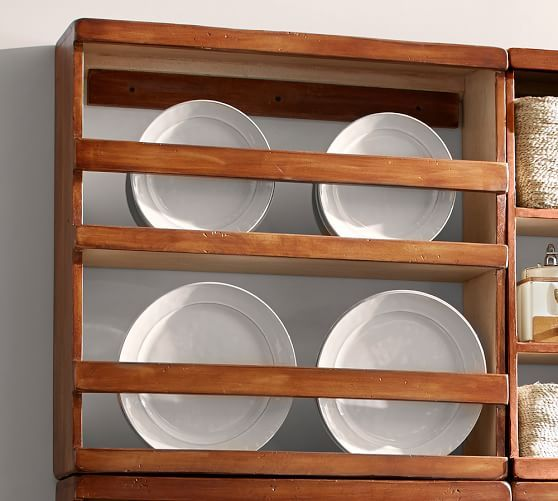 Fruit Crate Shelves Wood Plate Organizer Crate Shelves
