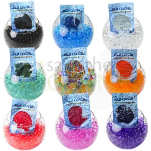 AQUA-CRYSTAL-Expanding-Water-Beads-Bio-Gel-Balls-Wedding-Centrepiece-Vase-Filler