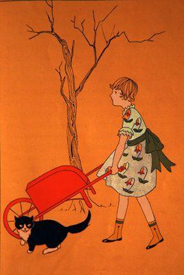 Wheelbarrow Vintage Illustration Illustration Children S Book Illustration