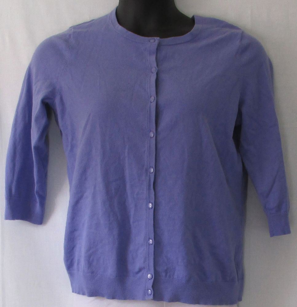 Talbots Plus Size Lavender or Light Purple Button Cardigan Sweater ...