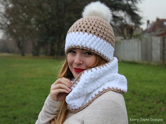 Crochet Hat And Cowl Pattern Snowy Bobbles Crochet Pattern