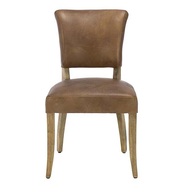 Timothy Oulton Mimi Leather Dining Chair Brown Barker