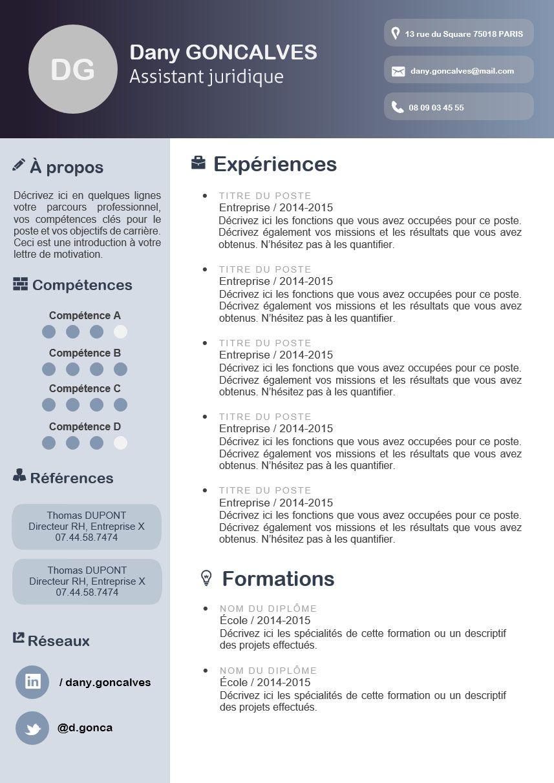 Modern Resume Template Cv Template Word Resume Instant Download Exemple Cv Exemple Cv Moderne Cv Moderne