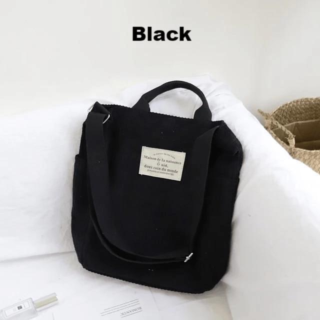 Life + Travel Cord Tote Bag Canvas shoulder bag, Bags