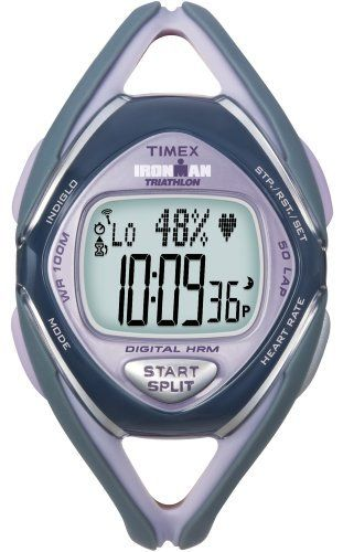 Timex Ironman Race Trainer Heart Rate Monitor Watch Grey Lilac