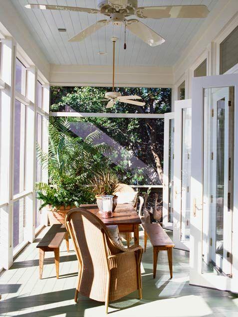 Enclosed Front Porch Decorating Ideas