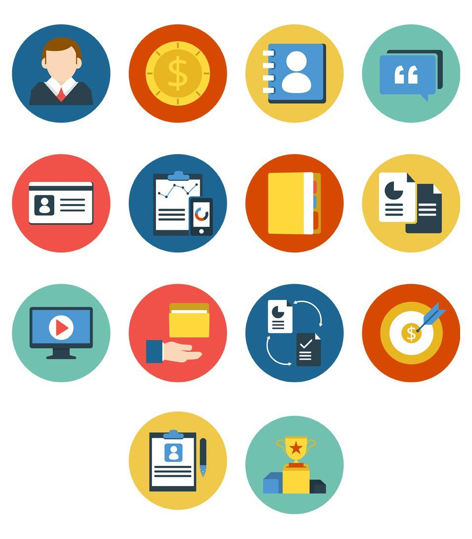 free corporate flat icons | Free Vector Icons | Business