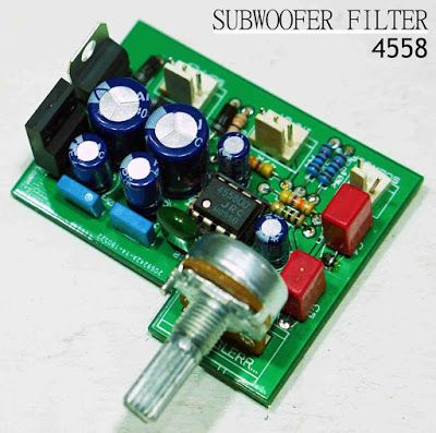 Subwoofer Filter 4558 complete Regulated Power Supply ...