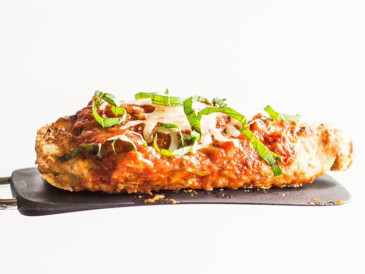 Comfort And Pulses Lentil Crusted Chicken Parmesan Recipe Food