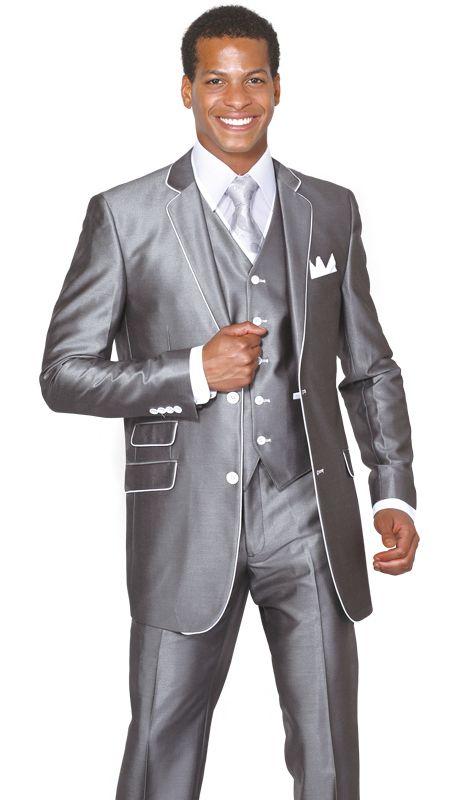 Kelaixiang Mens Regular Fit 3 Piece Suit One Button Business Wedding Blazer Jacket Pants Suits Set