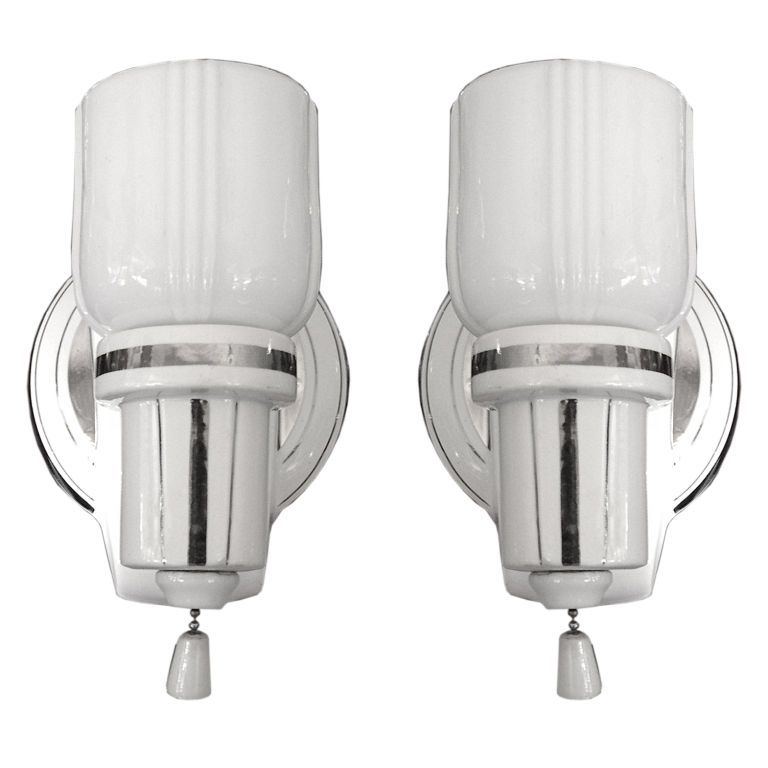 1stdibs pair of original art deco porcelain and glass bathroom 1stdibs pair of original art deco porcelain and glass bathroom sconces explore items from 1700 global dealers at 1stdibs aloadofball Choice Image