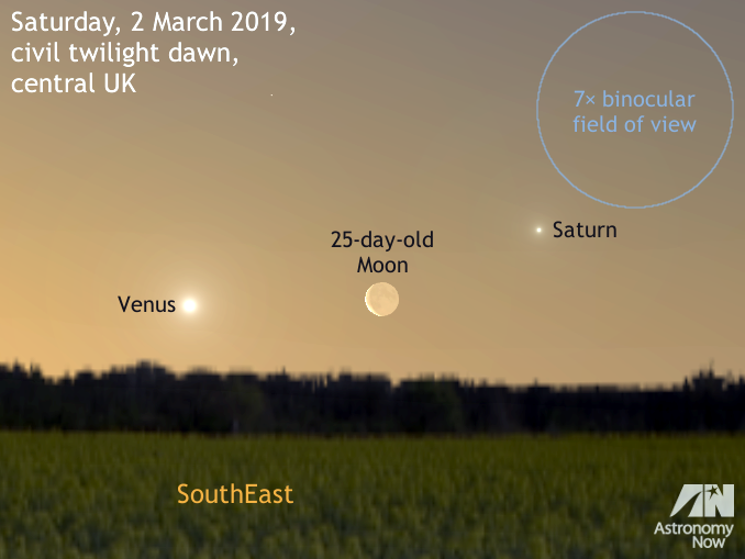 See The Old Moon Between Venus And Saturn At Dawn On 2march Astronomy Now Astronomy Saturn Venus