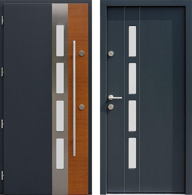 Drzwi wejściowe do domu z katalogu inox wzór 444,1-444,21+ds4