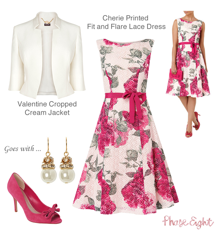 Phase eight wedding guest outfits cherie fit and flare for Dress jacket for wedding guest