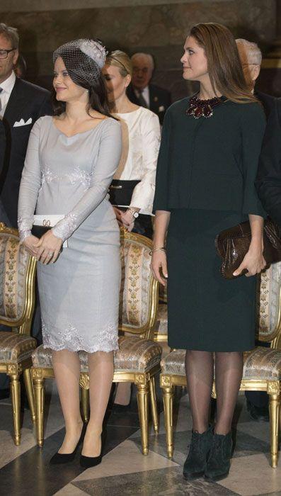 Princess Sofia and Princess Madeleine at Te Deum Mass for safe arrival of  Prince Oscar