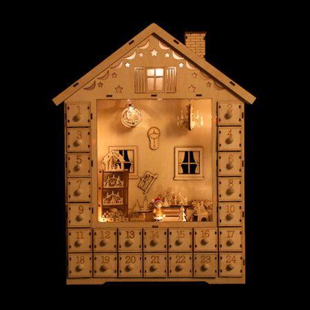 Diy Advent Calendar Kids Crafts Unfinished Wood Craft Supplies