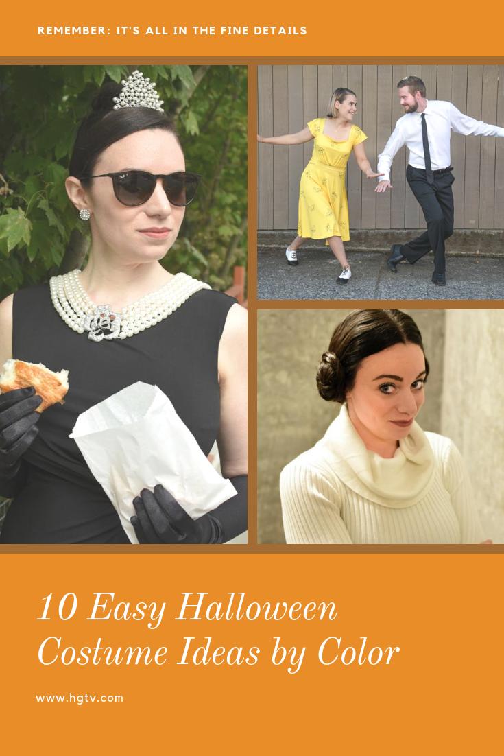 10 halloween costume ideasdress color | easy halloween diy ideas