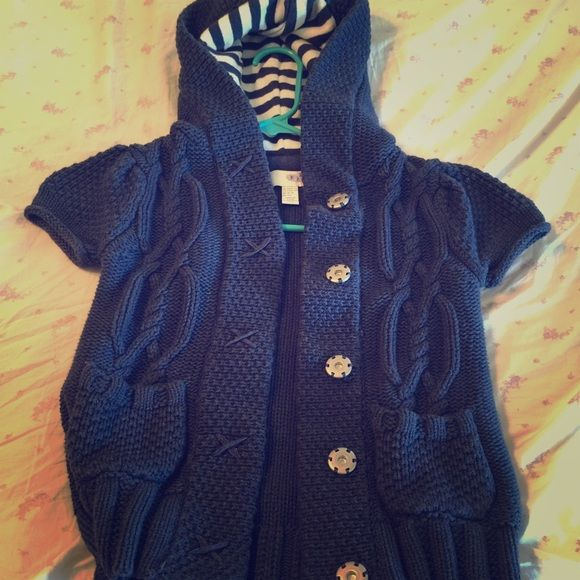 Girl's short sleeve sweater | Fall weather, Blue sweaters and ...
