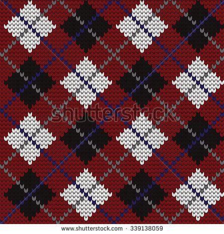 knitted seamless pattern argyle | Tapestry crochet | Pinterest ...